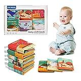 Ballery Livres d'éveil bébé, 6 Pièces Enfants Sûr Mordable Lavable Livre en Tissu Educatif Sensitive Exercice de Intelligence Jouet Book Soft Livre Premier Livre pour Bambin Enfant