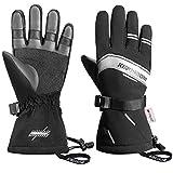 KINGSBOM Waterproof Ski & Snow Gloves, 3M Thinsulate Winter Warm Touch Screen Snowboard Gloves for Men & Women (Small)