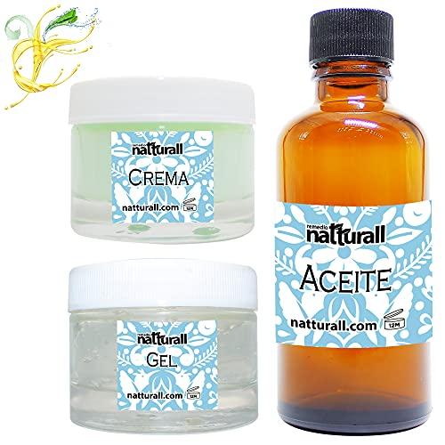 Aloe Vera Gel Crema y Aceite Orgánico Facial Sabila 100% Natural Hidratante Hombre y Mujer Nutre y Repara la Piel