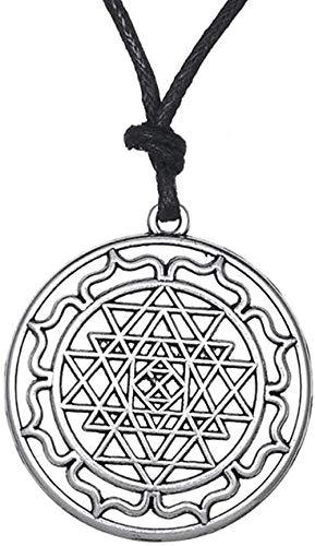 ZHIFUBA Co.,Ltd Necklace Fashion Portugal Mandala Chakra Hindu Goddess Yoga Pagan Punk Men Rope Necklace Indian Jewelry