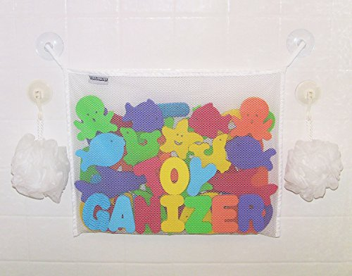 Toyganizer Bath Toy Organizer, White
