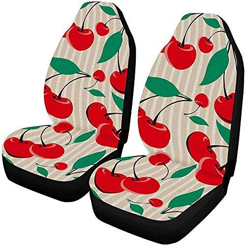 Set van 2 autostoelhoezen grappig saai schattig in roze konijn kostuum cartoon universele auto voorstoelen beschermer 14-17IN