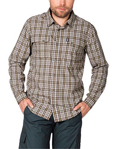 Jack Wolfskin Herren Hemd Crossley Shirt M, Siltstone Checks, L