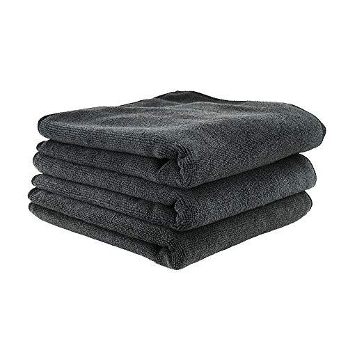 Chemical Guys MIC35303 Workhorse Professional Grade Microfiber Towel, Black (16 in. x 16 in.) (Pack of 3)