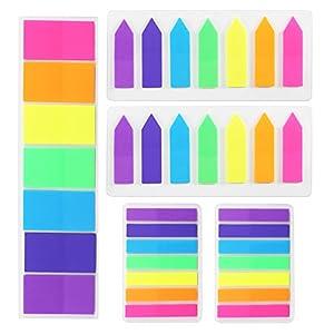 Sticky Note MIHOUNION 700 piezas marcadores neon libreta notas adhesivas Color Index Flags Tabs Fluorescent Sticky Notes…