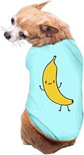 Cartoon Banana Dog Shirt Clothes For Pet Puppy Tee Shirts Dogs Costumes Cat Tank Top Vest M SkyBlue