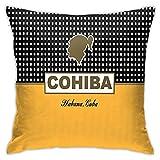 KINGAM Cohiba Habana Cuba Funda de almohada decorativa para el hogar, fundas de almohada para sofá, sofá, fundas de almohada de 45,7 x 45,7 cm