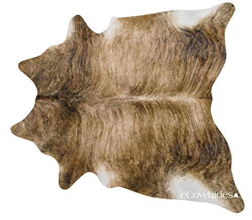 eCowhides Brindle Brazilian Cowhide Area Rug, Cowskin Leather Hide for Home...