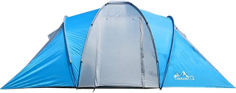 CCMMUU Kuppelzelte Bergsteigerzelt Zwei-Zimmer-Doppelraum-Glasmastzelt mit 2 Schlafzimmern für Outdoor-Sportarten winddichtes Sonnenschutzzelt Faltzelt