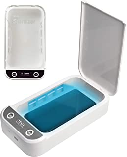 Cell Phone Cleaner, Portable Smart Phone Cleaning Box Aromatherapy Function Electric Phone Cleaner Box Cleaning Device for All Cellphone Toothbrush Salon Tools Jewelries Watches