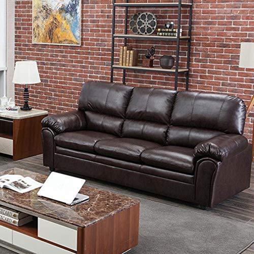 BestMassage Sofa PU Leather Sofa Sleeper Sofa Contemporary Sofa Couch for Living Room Furniture Modern Futon (Three Seat).