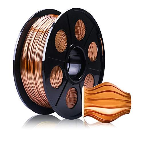 PLA-Seidenfilament 1,75 mm, 3D-Druckerfilament 1 kg (2,2 lb), Maßgenauigkeit +/- 0,02 mm-Rotes Kupfer