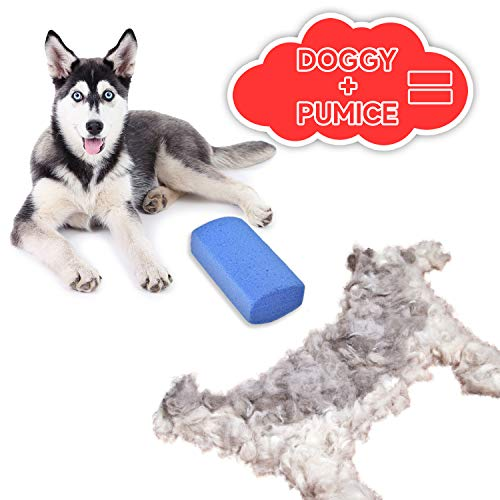 Petriz Stripping Stone for Dog Grooming Pumice Stone Pet Fur Remover Cats Dogs Horses Grooming Tool Alternative to Pet Hair Brush Dog Hair Cleaner