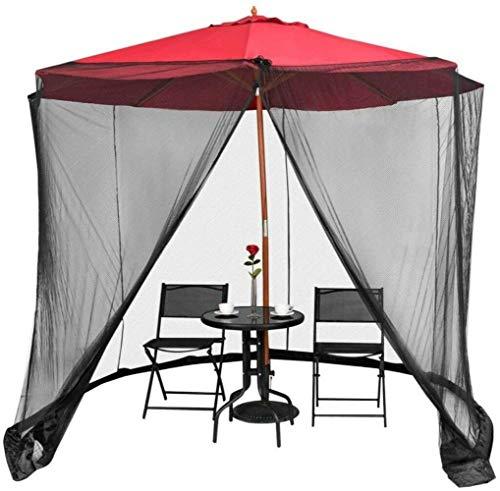 Alston Wat 10' Outdoor Umbrella Mosquito Net Bug Screen Zipper Door Garden Patio Furniture
