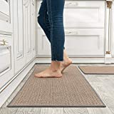 MontVoo Kitchen Rugs and Mats Washable [2 PCS] Non-Skid Natural Rubber...