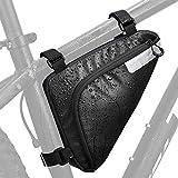 Bolsas Bicicleta Cuadro,Bolsa Triangular de Bicicleta, Bolsa Triangular Impermeable,Bolsa del Tubo Frontal con Tiras Reflectantes,Bolsa Triangular de Adecuado para MTB Bicicleta Carretera (A)