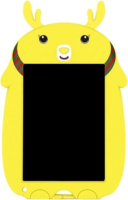 Webla Tablero de dibujo digital con tableta Lcd a color Tableta Lcd Pizarra electrónica Tarjeta dibujada a mano Dibujos animados 8.5 pulgadas(amarillo)