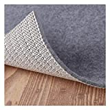 Non Slip Pad Rug Grippers - Square 6x6, 1/8' Thick, (Felt + Rubber) Double Layers Area Carpet Mat Tap, Provides Protection and Cushioning for Hardwood or Tile Floors