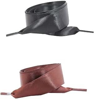 1 Paire de Lacets Plats de Ruban de Satin de Mode Lacets de Chaussure pour des Espadrilles denfants//Jeunes D