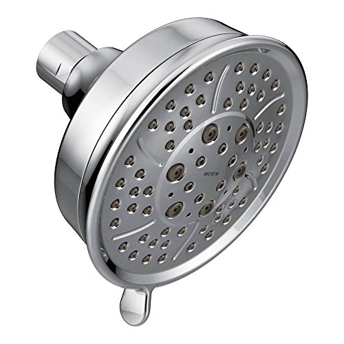 Moen 3638 Four-Function 4-3/8-Inch Diameter Showerhead, Chrome