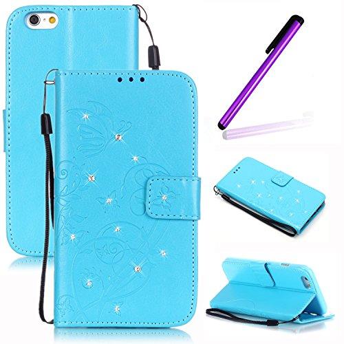 EMAXELERS iPhone 5 C Cas, Fashion PU Synthétique Cuir de Portefeuille Type magnétique Design Flip Case Cover pour Apple iPhone 5 C avec Stylet