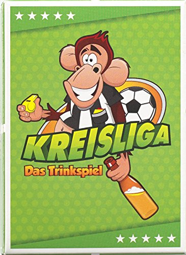 Kreisliga: Das Trinkspiel für die coolste Mannschaft der Welt – Saufspiel für Fußballer oder als Party Zubehör - Witzige Spiele für Erwachsene für Silvester
