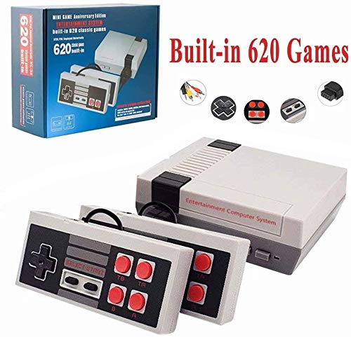 xjh 620 Retro Game Console, AV Output Mini NES Console Built-in Hundreds of Classic Video Games System