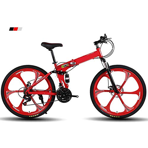Bicicletta pieghevole Mountain bike bicicletta pieghevole da 26 pollici / 21 Velocità ?? adulti Folding Bike / Folding Mountain Bike, a velocità variabile ?? Folding Mountain bike / adulti Mtb, Blu