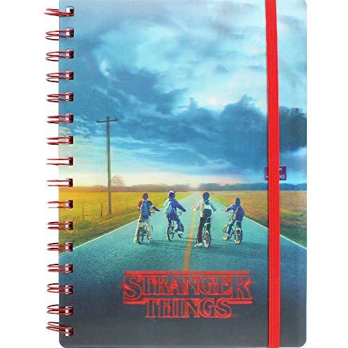 Stranger Things Minde Flayer - Cuaderno de notas en espiral (tamaño A5), diseño de flores