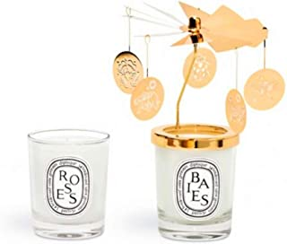 Diptyque SET OF TWO SMALL CANDLES AND CARROUSEL Baies and Rose 70g