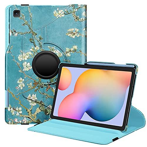 FINTIE Rotating Custodia per Samsung Galaxy Tab S6 Lite 10.4'' SM-P610/ P615 2020 con S Pen Holder - 360 Gradi di Rotazione Girevole Case Protettiva con Auto Svegliati/Sonno, Blossom