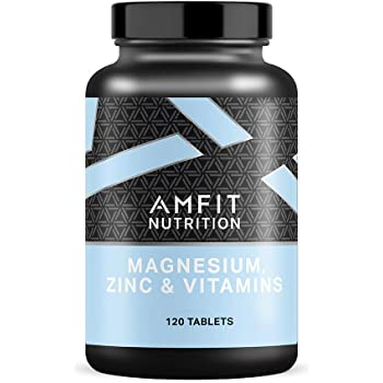 Marchio Amazon - Amfit Nutrition, Magnesio, Zinco & Vitamine (ZMA), 120 compresse