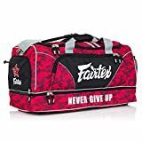 Fairtex Gym Bag Gear Equipment Color Blue or Gray or Yellow for Muay Thai, Boxing, Kickboxing, MMA (Red Camo)