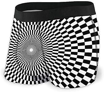 Web--ster Calzoncillos Boxer para Hombre Ropa Interior de Tablero de ajedrez hipnótico Elegante y cómodo Boxer Stretch Trunks Talla L