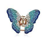 Brillantes Pasador de Pelo mariposa boda novia Cabello Clip turquesa azul
