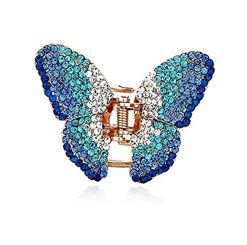Unbekannt Strass Haarspange Schmetterling Hochzeit Braut Haarclip Türkis Blau