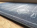 """oKu-Tex Fußmatte   Schmutzfangmatte   """"Deco-Flair Kitchen""""   Aufdruck/Motiv Küchenutensilien   Küchenläufer für innen   Küche   rutschfest   schwarz   50×120 cm - 3"""