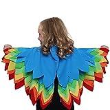 Kids Bird of Paradise Bird Wings for Bird Costumes for Kids Rainbow
