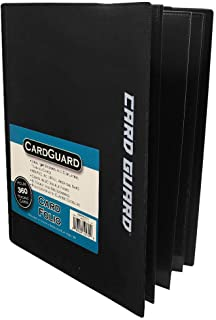 CardGuard Trading Card Pro-Folio, 9-Pocket Side-Loading Pages, Holds 360 Cards, Black
