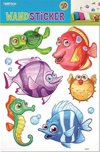 Wandsticker Fische: 28 x 35 cm