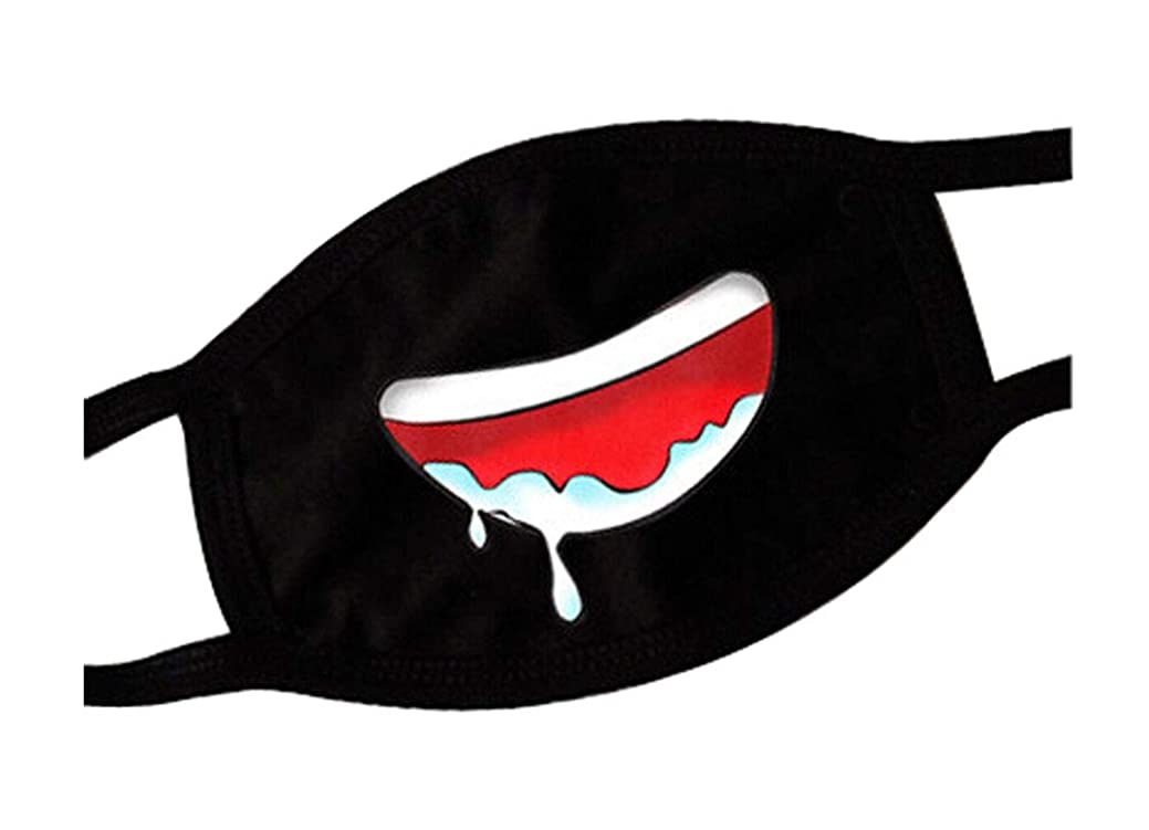 コンクリート展示会男らしさブラック面白い口のマスク、十代のかわいいユニセックスの顔の口のマスク、F2