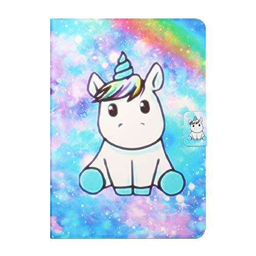 Tedtik for Samsung Galaxy Tab s5e 10.5' 2019 Case (SM-T720/T725),PU Leather Slim Lightweight Protective Hard Cover - Unicorn