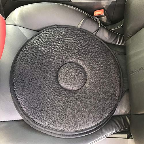 WUKONG99 Swivel Seat Cushion for Car For Elderly, 360° Rotation Lightweight Portable Memory Foam Auto Swivel Seat Cushion Anti-Slip For Back, Hip, Tailbone Pain Suffer (Grey)