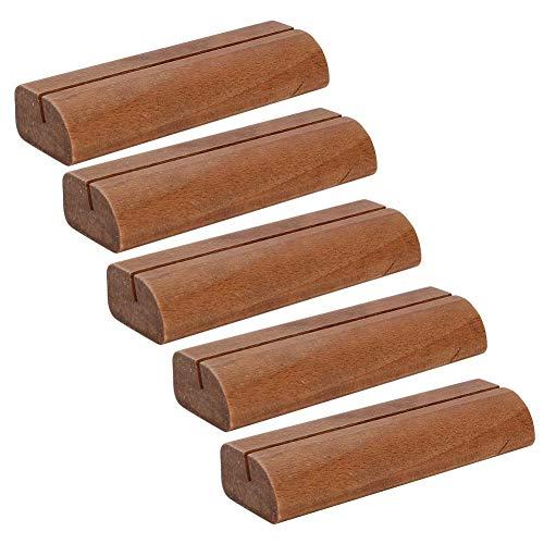 XINL Holzmaterial, Anmeldebedarf für das Büro, Notizklemme, Light Fresh für Scrap Card Hochzeitsbild-Tischmenü(Dark)