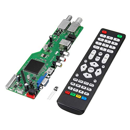 BliliDIY 5 Osd-Spiel Rr52C.04A-Unterstützung Digitalsignal Dvb-S2 Dvb-C Dvb-T2 / T ATV ??Universal-LCD-Treiberplatine Dual-USB-Wiedergabemedien Mit Fernbedienung