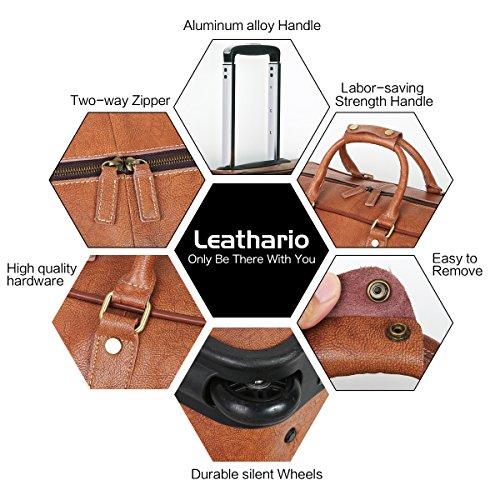 Leathario Reisetasche aus Rindsleder – Trolley - 5