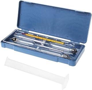 kdjsic Testeur d'hydromètre Vintage 250m l Bouteille de Mesure boîte en Plastique Ensemble d'outils Alcoolomètre Compteur ...