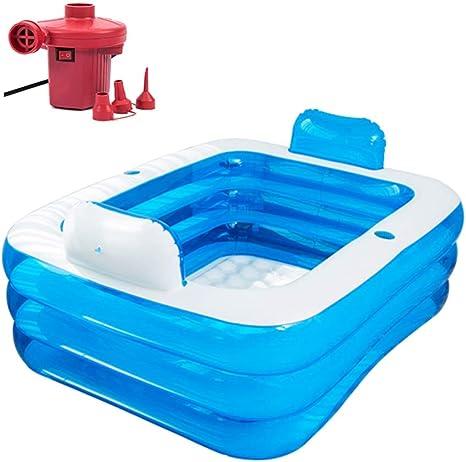 Blue Inflatable Bath Folding Adult Bath,SPA Inflatable Bathtub,Portable Inflatable Bathtub for Adults Inflatable Travel