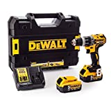 <span class='highlight'>Dewalt</span> DCD796P2-<span class='highlight'>GB</span> DCD796P2 <span class='highlight'>Combi</span> <span class='highlight'>Drill</span> 18V <span class='highlight'>XR</span> Brushless Compact Lithium-Ion (2 x 5.0Ah Batteries), 18 V, Yellow/Black, One size