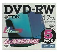 TDK DVD-RW 4.7GB 4倍速 [DVDRW47X5K]